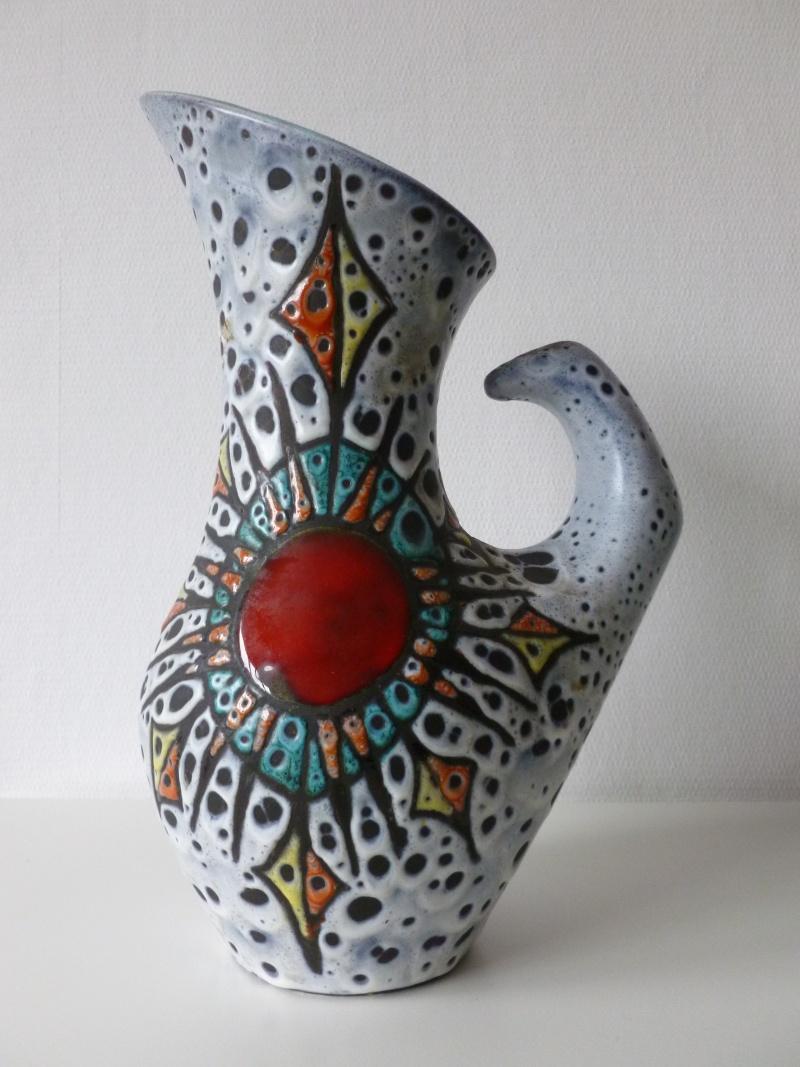 Vase émail craquelé décor bleu oiseaux et fleurs de lys - Masipal  Espagne - Page 2 Besson10