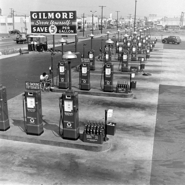 old school gas  service stations