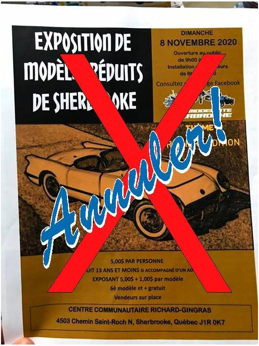 Première édition de l'Exposition de Modèles-Réduits de Sherbrooke 2020 11824610