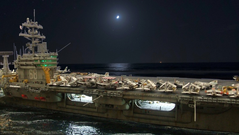 USS Nimitz CVN 68 de chez Trumpeter à l'échelle 1/350 13956410