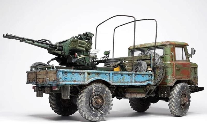 GAZ-66 avec canons ZU-23-2 à la sauce Taliban (Trumpeter 1/35) 524
