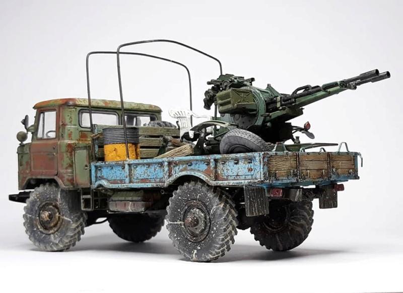 GAZ-66 avec canons ZU-23-2 à la sauce Taliban (Trumpeter 1/35) 622
