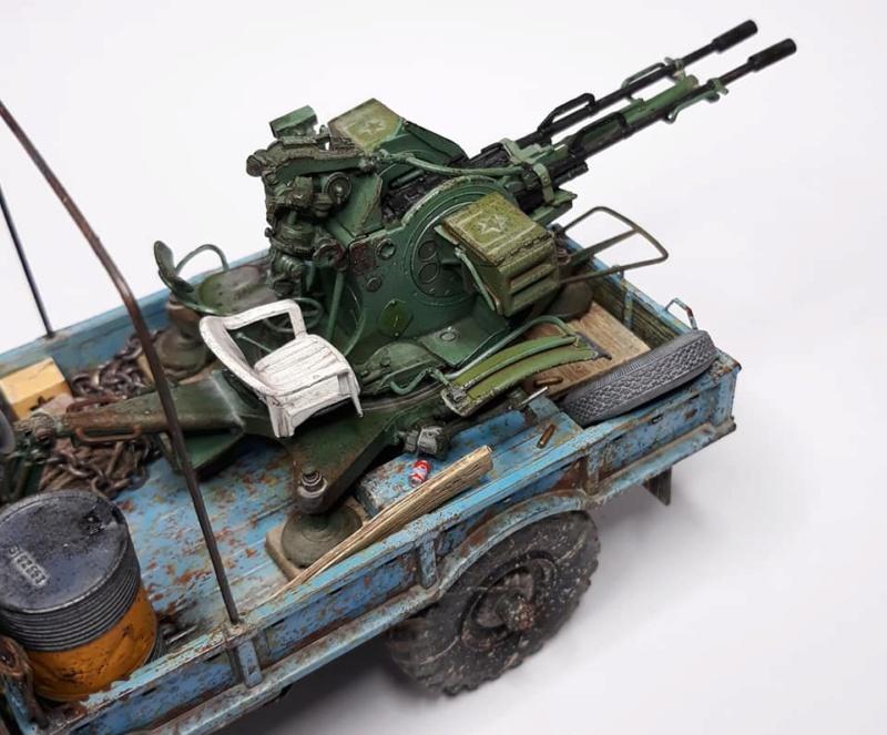 GAZ-66 avec canons ZU-23-2 à la sauce Taliban (Trumpeter 1/35) 822