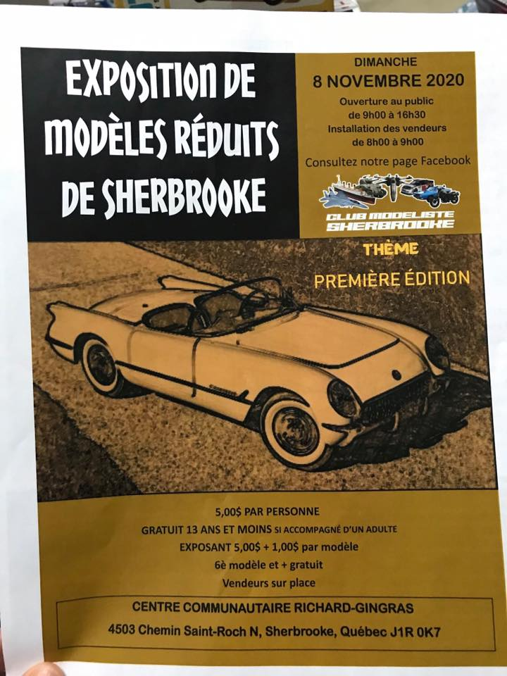 Première édition de l'Exposition de Modèles-Réduits de Sherbrooke 2020 83720110