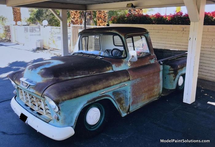 1955 Chevrolet Stepside AMT 1/25 Rustyc10