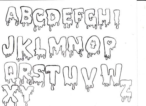 Assignment 12: Graffiti Alphabet due Oct 22 Spooky10