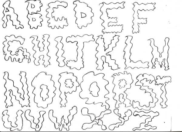 Assignment 12: Graffiti Alphabet due Oct 22 Abcdef10
