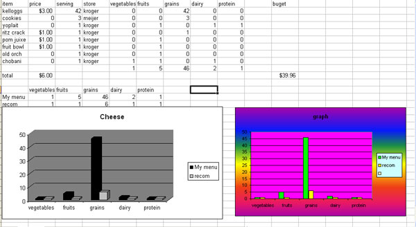 Assignment 13: Excel Part I (Food Stamp Challenge) due May 8 - Page 2 Graphs10