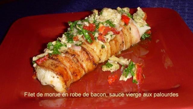 Filet de morue en robe de bacon, sauce vierge aux palourdes Morue_11