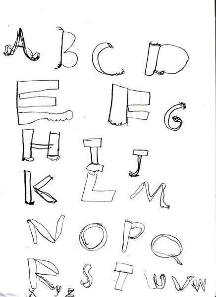 Assignment 12: Graffiti Alphabet due Oct 22 Scanne10