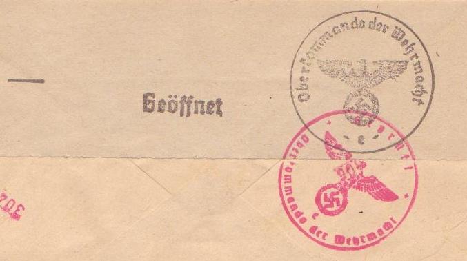 lettre de france vers Allemagne Goeffn10