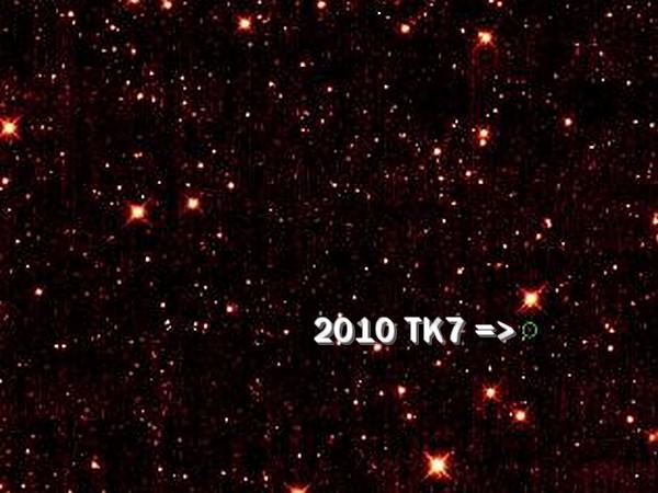 La Terre en orbite avec un astéroïde 00110