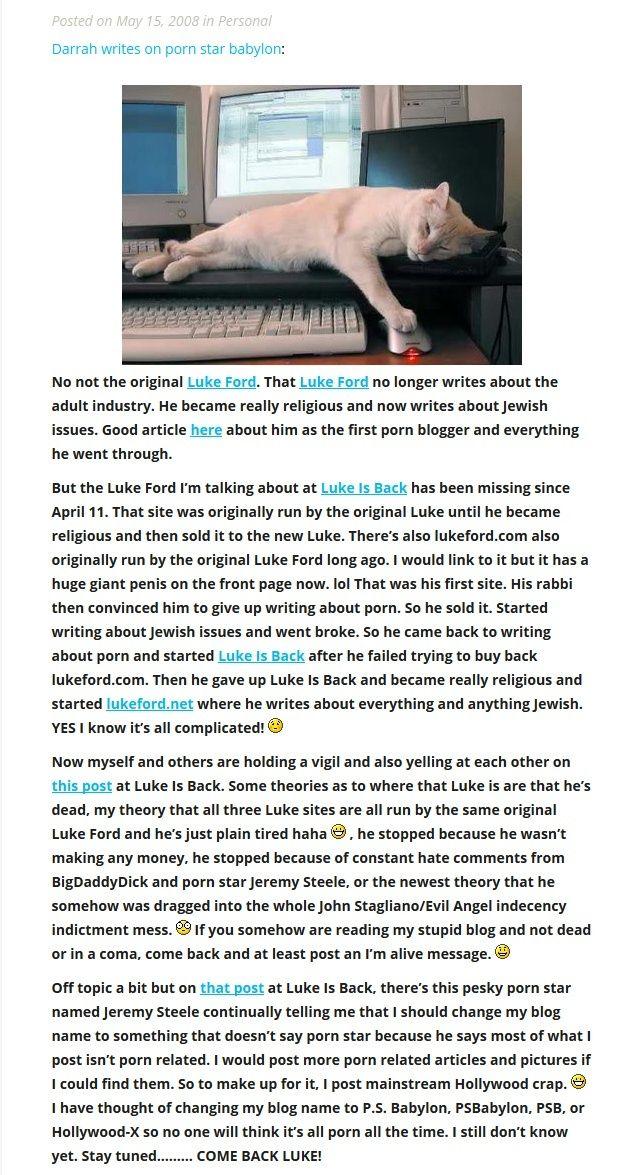 Darrah Ford looks for Luke on LukeIsBack.Net 915_sc10