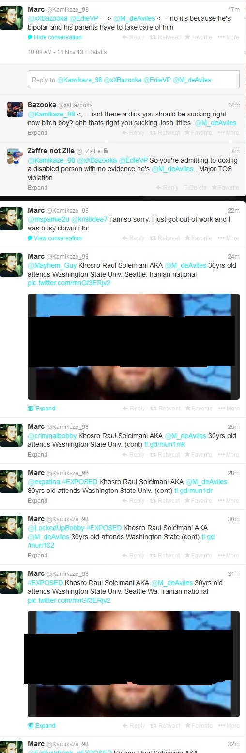 "Islamaphobe @Kamikaze_98 Fail Doxes Liberal as an ""Iranian National"" 962c_s11"