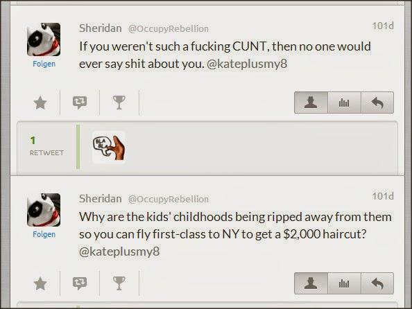 Sheridan @OccupyRebellion Attacks Kate Gosselin Egrvbl10