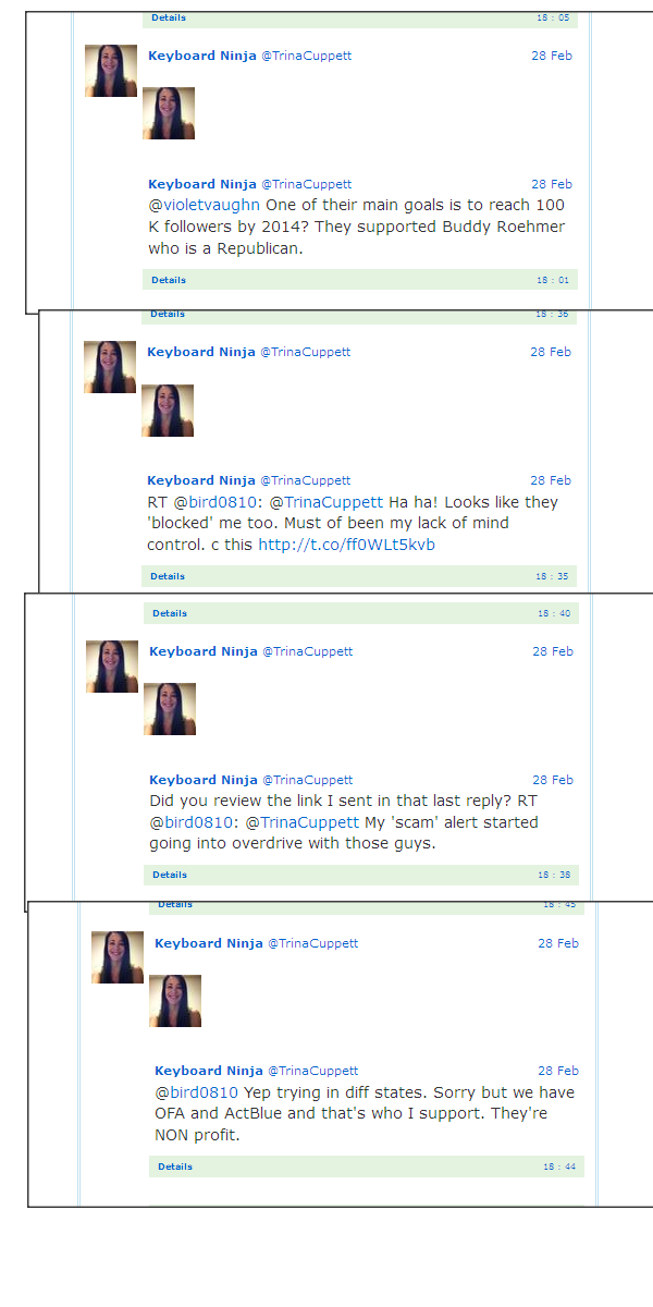 Trina Cuppett Tweet Captures February 28th, 2013 Trina211