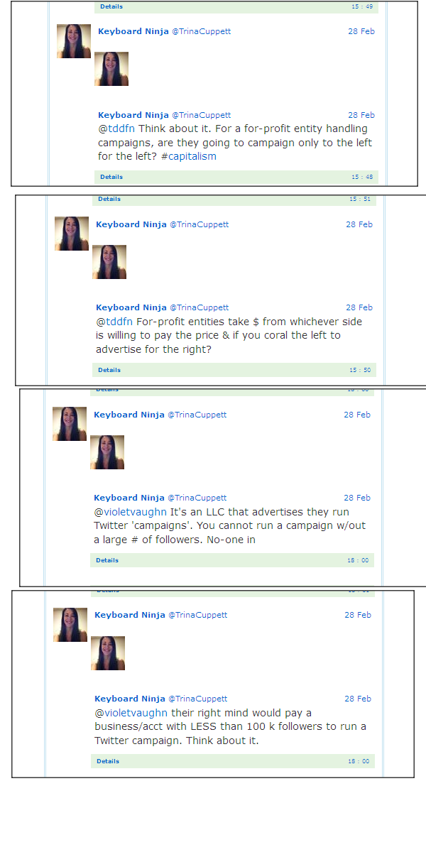 Trina Cuppett Captured Tweets February 28th 2013 Trina213
