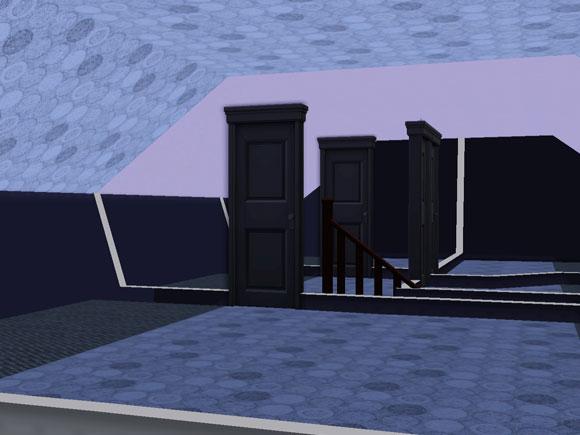 [Intermédiaire] Pièce mansardée (combles) avec murs tapissés 002010