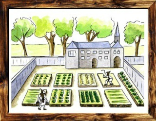 [Fiche] Les 7 types de jardins : Le jardin au Moyen-Age (Occident) Jardin12