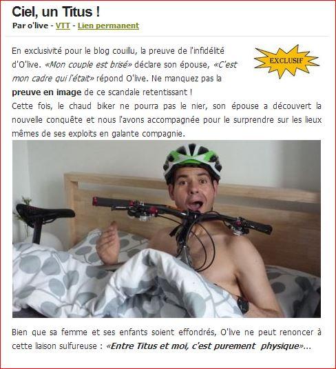Le topic des bikes qui dorment bien au chaud dans le salon, votre chambre ... Olive10