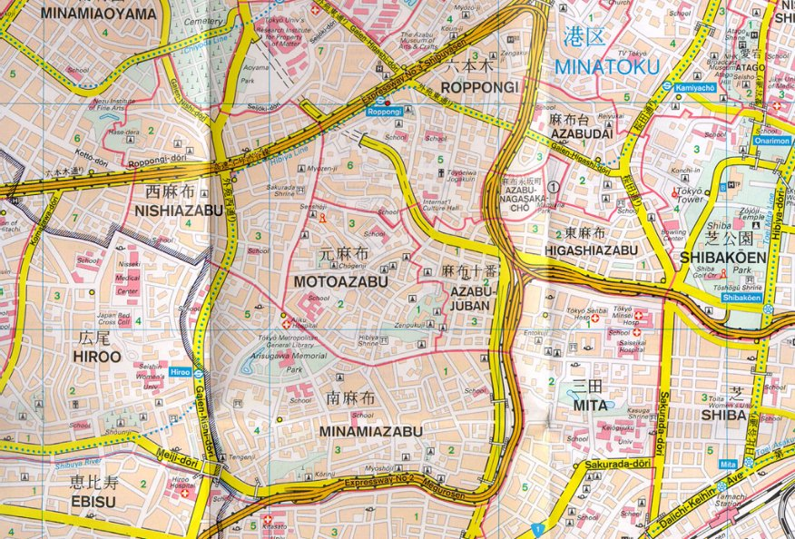 Map of real-life Juuban area Map_of11