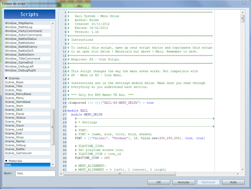 Traduire vos scripts Script11
