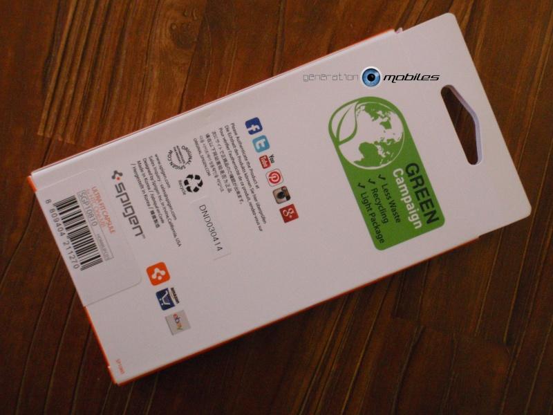 [MOBILEFUN.FR] Test Coque HTC One M8 Spigen Ultra Fit – Transparente Boite210