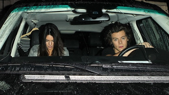 Exclusive Harry Styles Dating Kendall Jenner 2014, One Direction Singer Photographed Driving Her Range Rover Harry-10