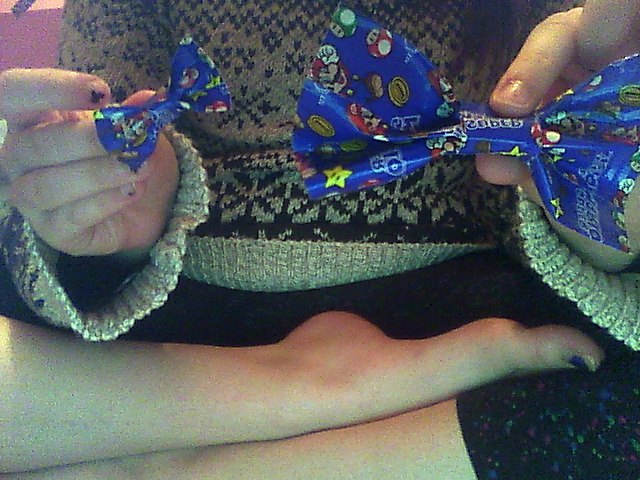 Cute Duct-Tape bows I made today c: Snapsh14