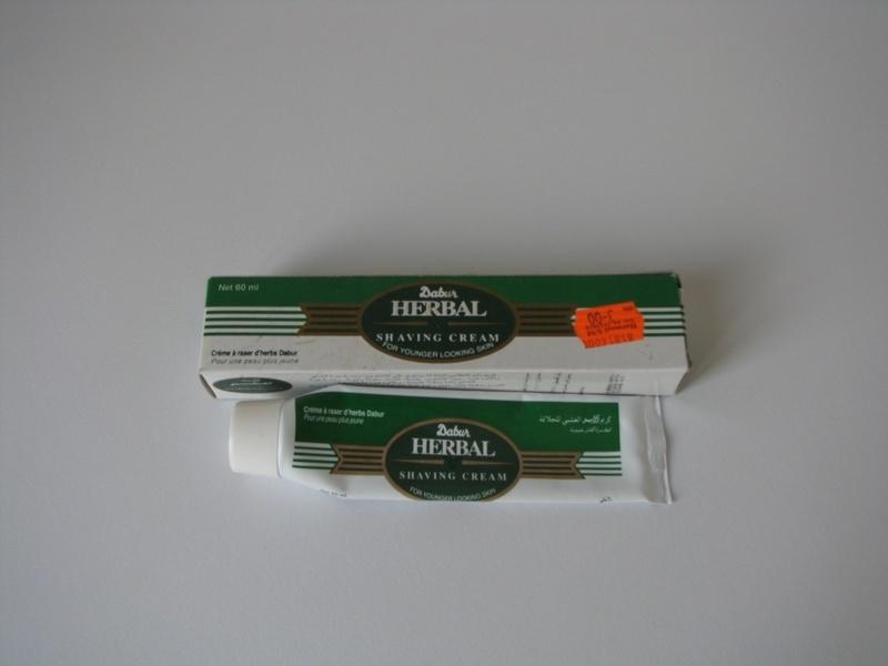 La crème de rasage indienne : Dabur Herbal Shaving Cream. Dabur_11