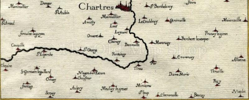 Ancienne carte de Chartres Carte10