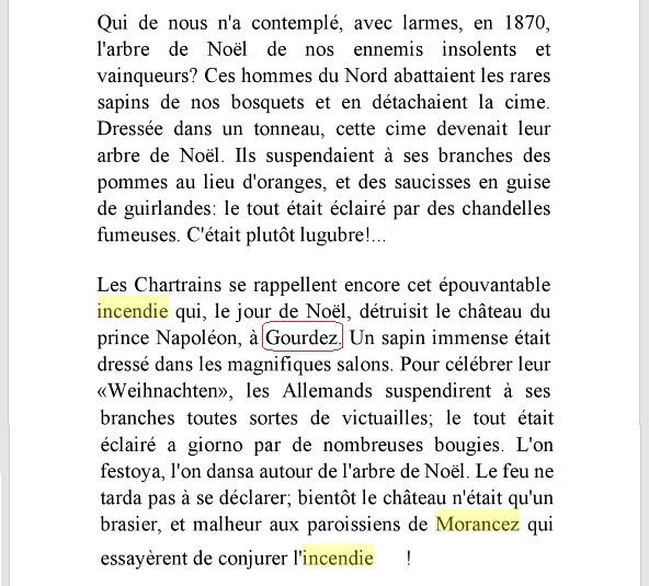 MORANCEZ -- LE COUDRAY -- Le Château de GOURDEZ -- La guerre de 1870 .... CHARTRES -- LUISANT --  Livre-10