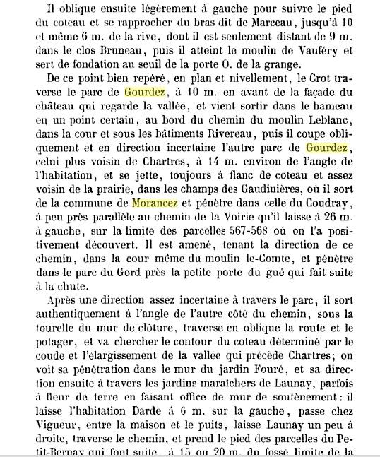 MORANCEZ -- LE COUDRAY -- Le Château de GOURDEZ -- La guerre de 1870 .... CHARTRES -- LUISANT --  Statis11