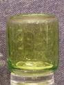 Lime green cylinder vase P1000922
