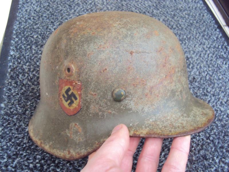 Casque allemand modèle 40 Polizei  à estimer Dsc07029
