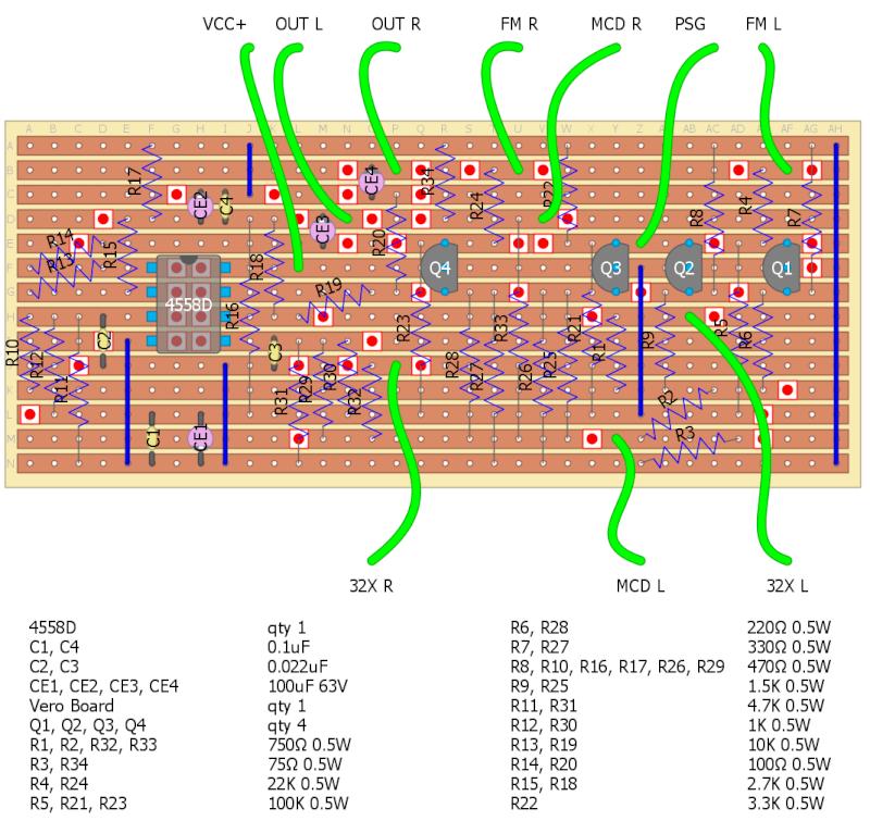 Genesis 2 Crystal Clear Audio Mod On Stripboard Tiido_11