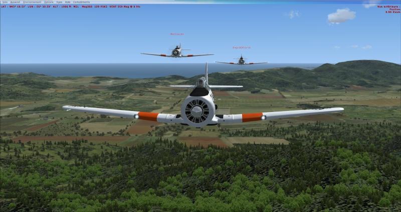 Vol en formation avec le texan 2014-318