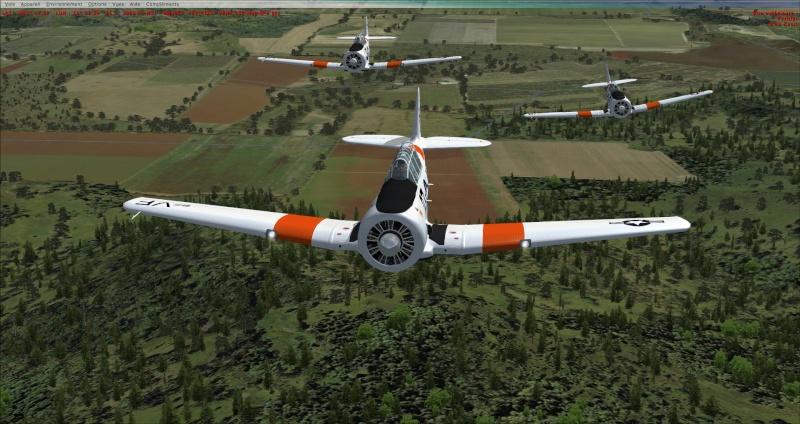 Vol en formation avec le texan 2014-320