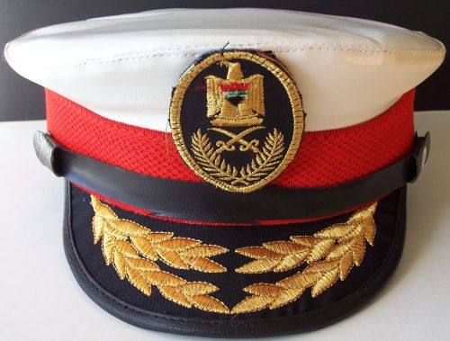 Post 2003, Iraqi Navy Officers Visor hat Navy_o10