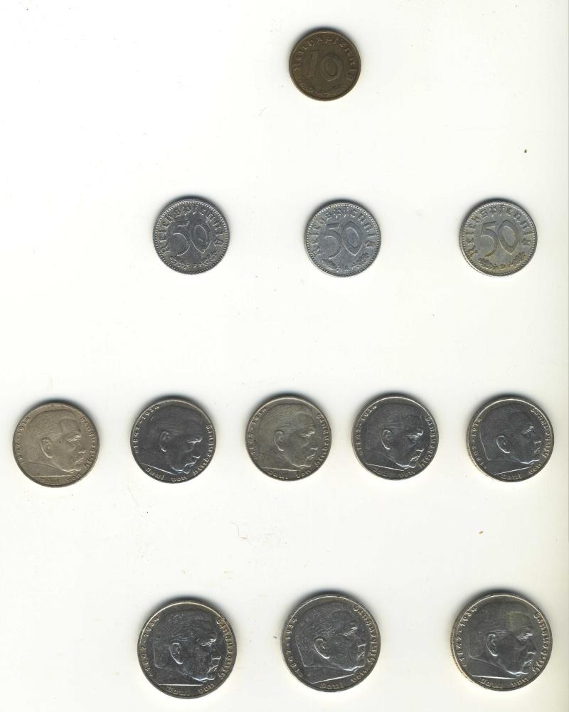 Pièces de monnaies IIIème Reich Piaces10