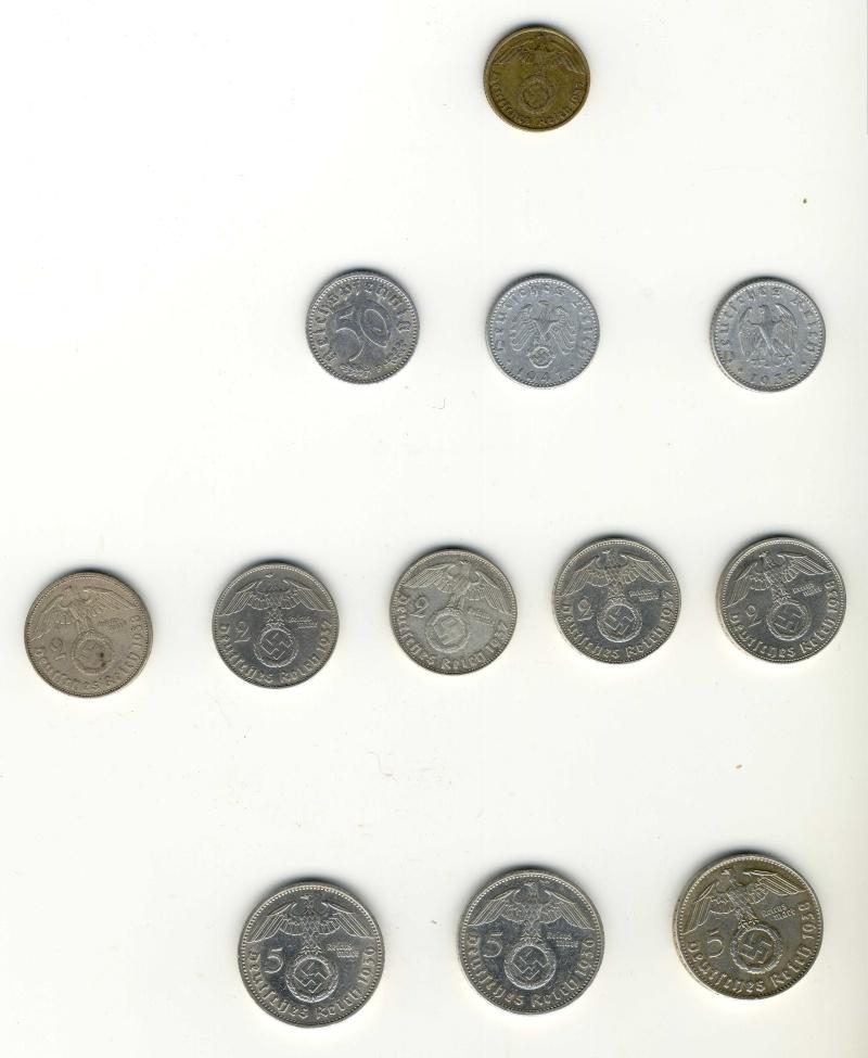 Pièces de monnaies IIIème Reich Piaces11