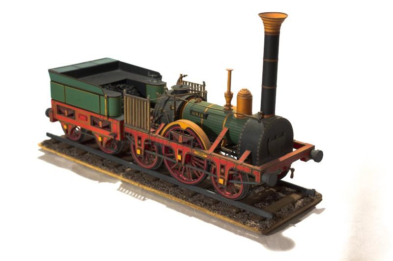 """Der """"Adler"""" - Deutschlands erste Lokomotive / Kartonmodell der Firma Schreiber 01911"""