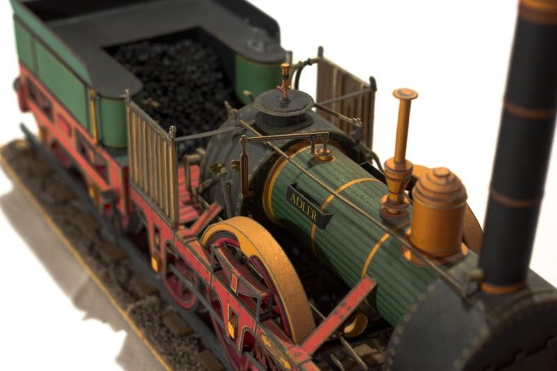 """Der """"Adler"""" - Deutschlands erste Lokomotive / Kartonmodell der Firma Schreiber 02319"""