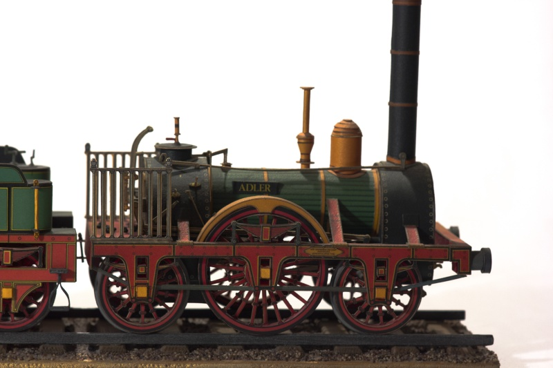 """Der """"Adler"""" - Deutschlands erste Lokomotive / Kartonmodell der Firma Schreiber 02410"""