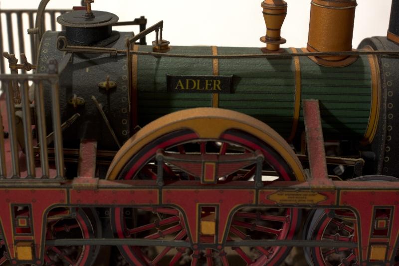 """Der """"Adler"""" - Deutschlands erste Lokomotive / Kartonmodell der Firma Schreiber 02510"""