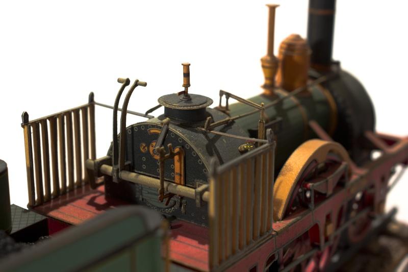 """Der """"Adler"""" - Deutschlands erste Lokomotive / Kartonmodell der Firma Schreiber 03110"""