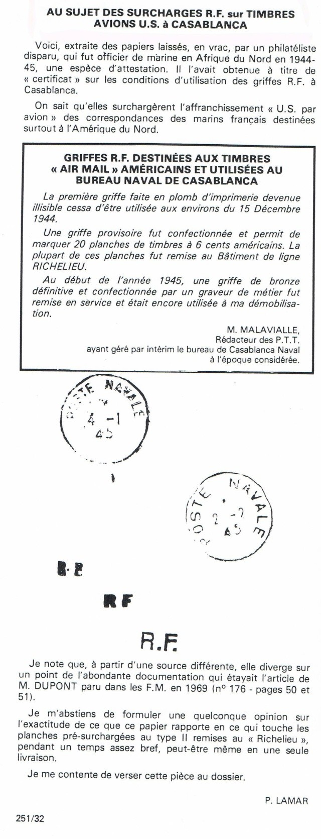 ENVELOPPE POSTE NAVALE RF à CASABLANCA 1944 Ccf07021