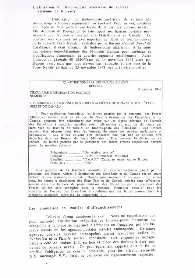 ENVELOPPE POSTE NAVALE RF à CASABLANCA 1944 Ccf07022