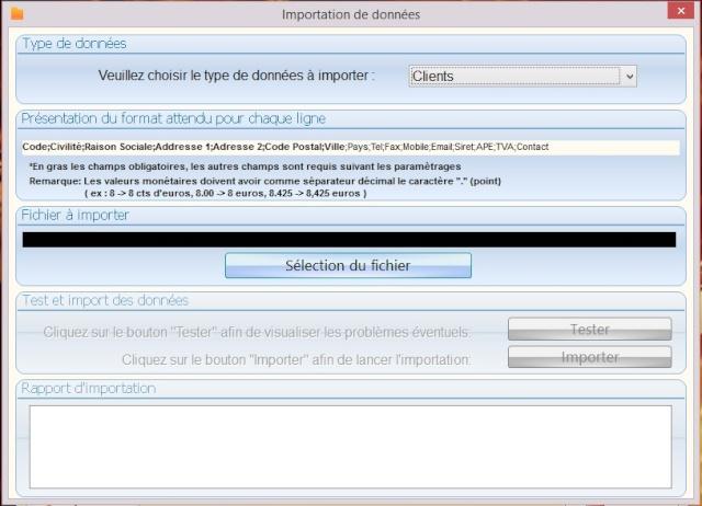 Importation de fichier excel (client) Select10