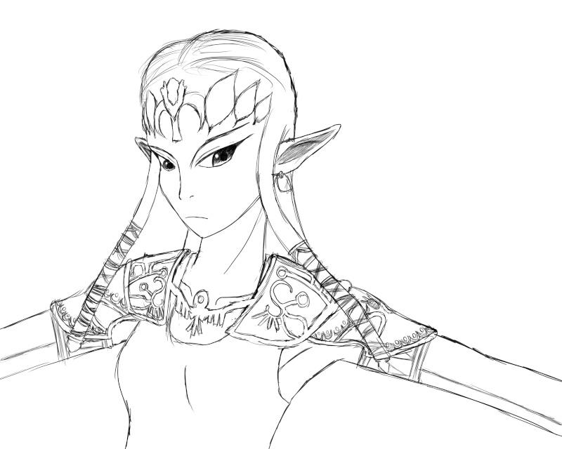 MQarts's not so amazing art Zelda10